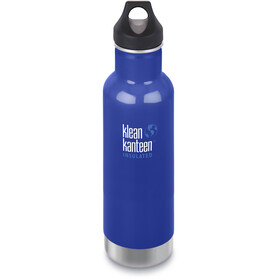 Klean Kanteen Classic Vacuum Insulated Drinkfles Loop Cap 592ml, blauw